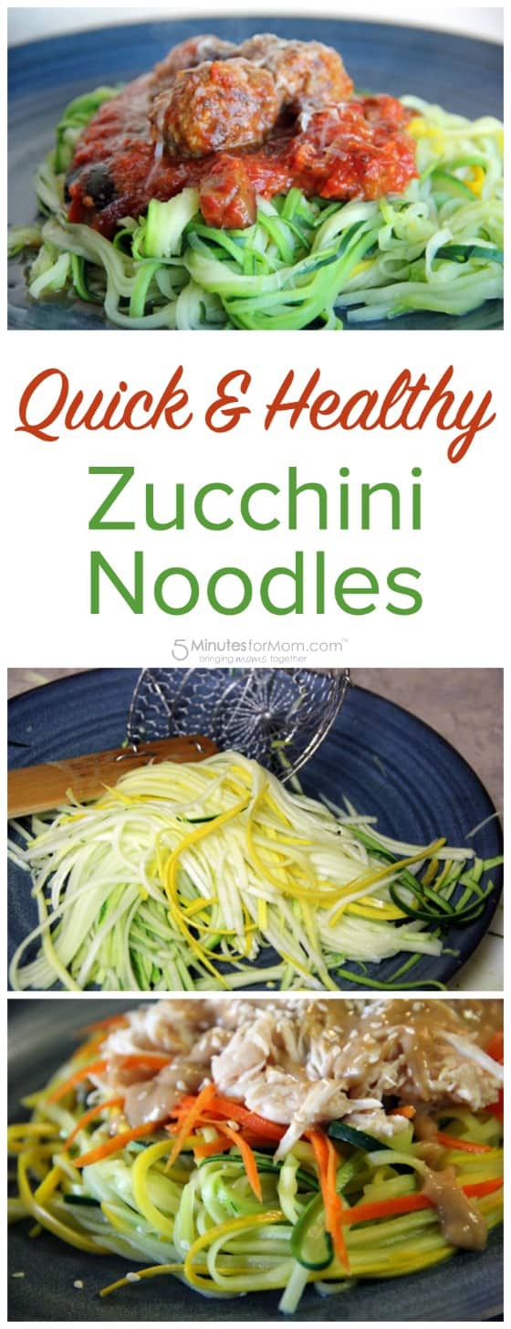 Quick and Healthy Zucchini Noodles