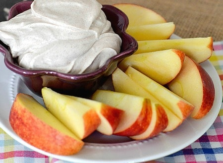 After School Snack: Cinnamon Cream Cheese Dip