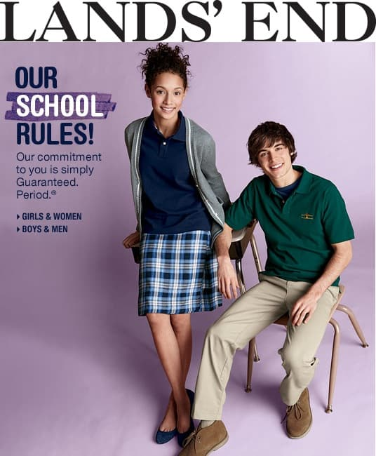 School uniforms from lands 39 end review and giveaway 5 for Lands end logo shirts