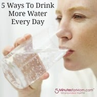 5 Ways to Drink More WATER Every Day