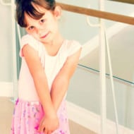 Wordless Wednesday — Sophia's First Day of Ballet… Again!