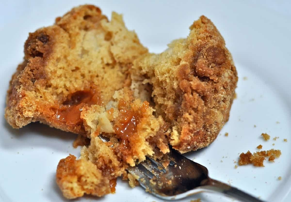 Caramel Apple Streusel Muffins - Taking a Bite