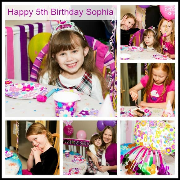 Happy 5th Birthday Sophia