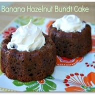 Banana Hazelnut Bundt Cake Recipe (With Weekly Recipe Linky)