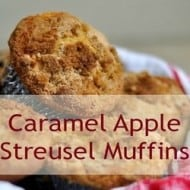 Caramel Apple Streusel Muffins (With Weekly Recipe Linky)