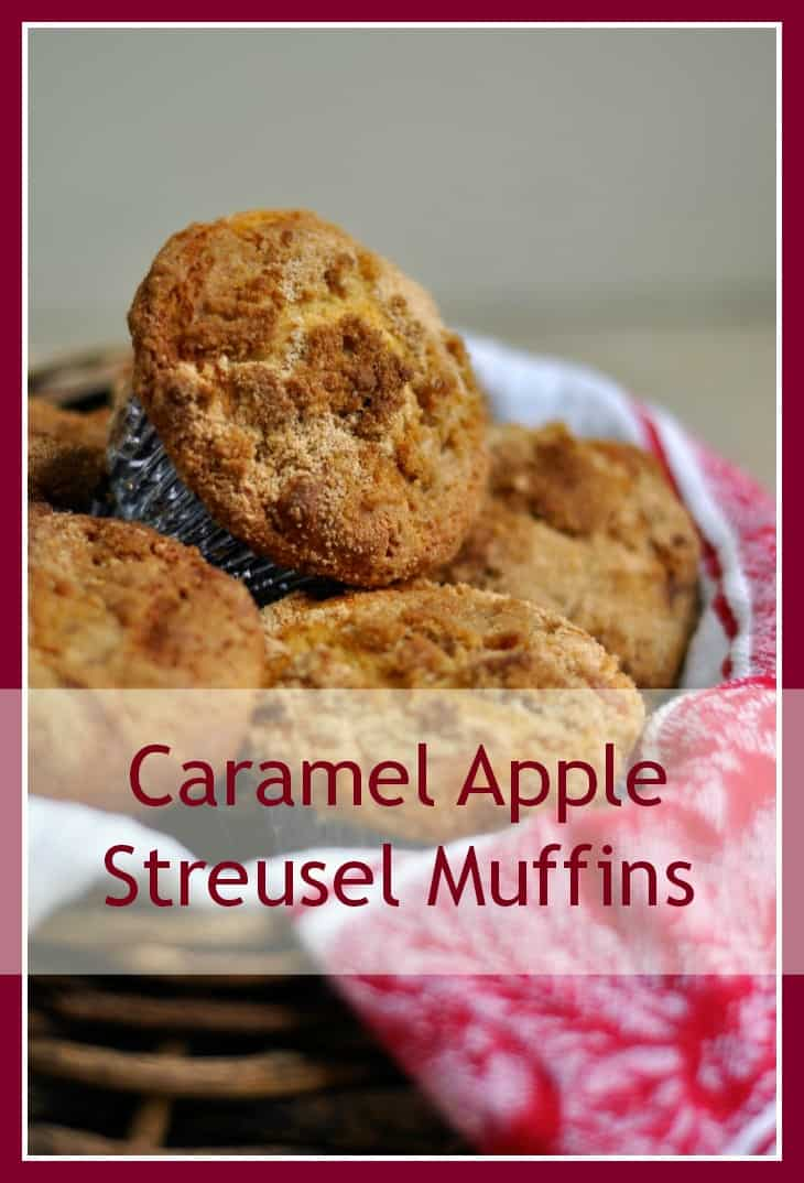 Caramel Apple Streusel Muffins - Easy and delicious muffin recipe #muffin #applestreusel