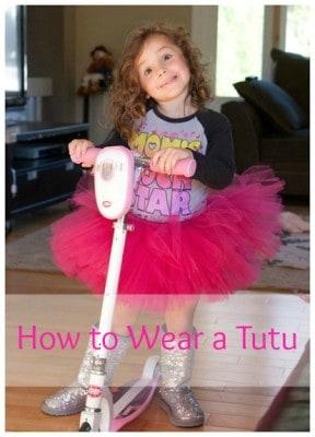 how to wear a tutu