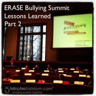 ERASE Bullying Summit – Lessons Learned – Part 2