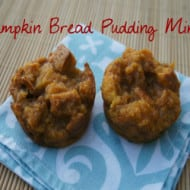 Pumpkin Bread Pudding Minis (With Recipe Linky)