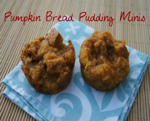 Pumpkin Bread Pudding Minis