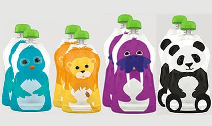 Squooshi Re-usable Pouches: On-The-Go Eating Made Fun and Simple (Giveaway)