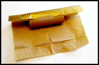 wrapping tube for Christmas cracker