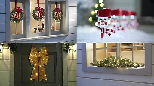 Brylane home makes decorating easy with festive new for Easy christmas light ideas outdoor