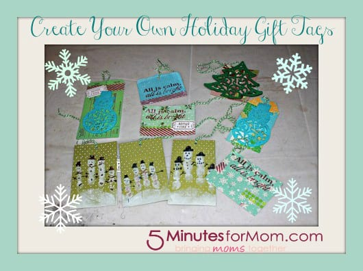 how to create your own holiday gift tags