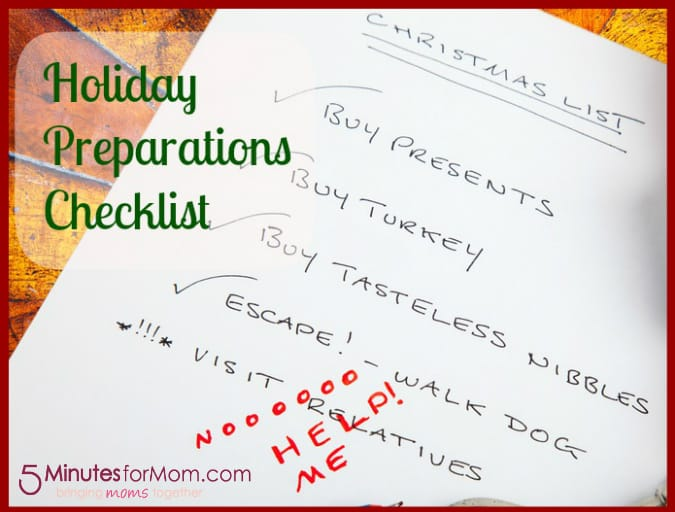 Tackle It Tuesday Holiday Preparations Checklist – Christmas Preparation Checklist