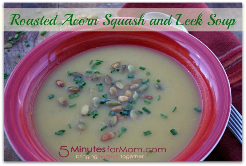 roasted acorn squash and leek soup recipe