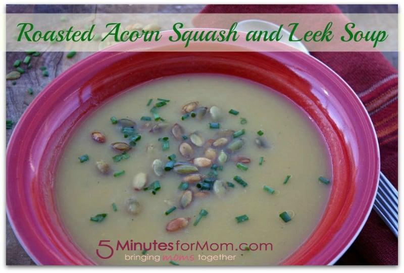 roasted acorn squash and leek soup recipe