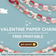 Free Valentine Printable from Pear Tree Greetings
