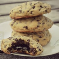 Oreo Stuffed Chocolate Chip Cookies (with Recipe Linky)