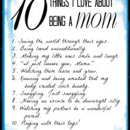 What Do You Love About Being A Mom?