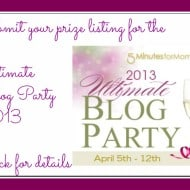Ultimate Blog Party 2013  Prize Submission Form