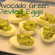 Avocado Green Deviled Eggs (With Recipe Linky)