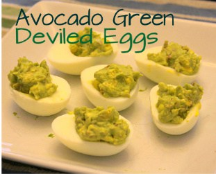 Avocado Green Deviled Eggs