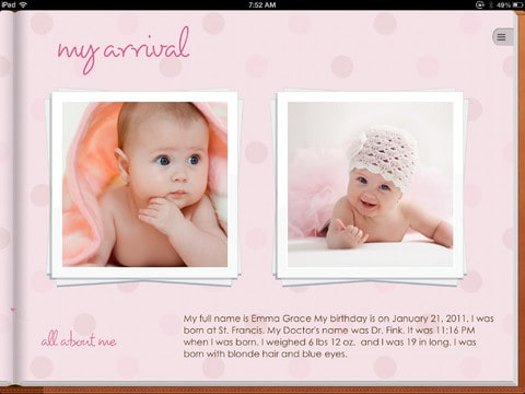 Use the Story of You iPad App to Create Beautiful Baby Books