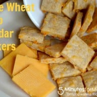 Whole Wheat Sharp Cheddar Crackers
