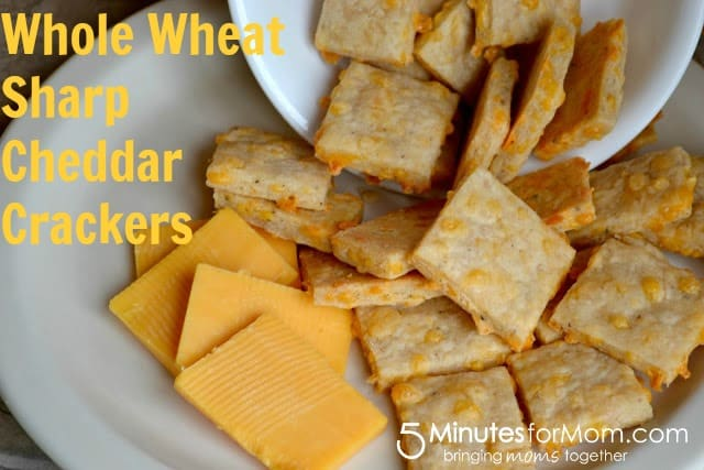 Whole Wheat Sharp Cheddar Crackers - 5 Minutes for Mom