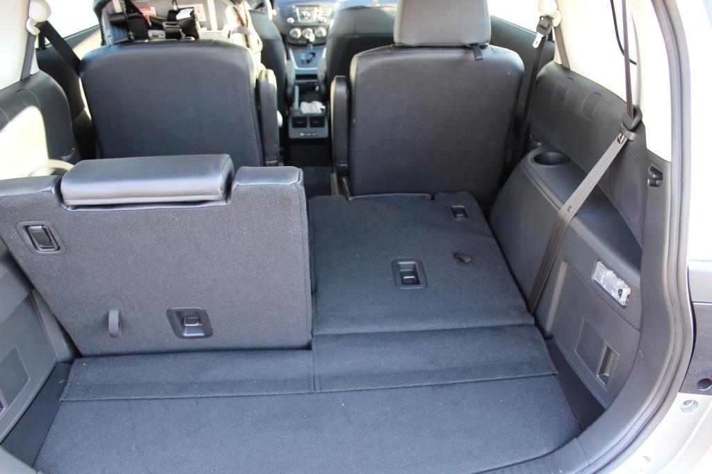 Roomy cargo space on Mazda 5