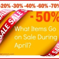 What's On Sale in April? (plus giveaway)