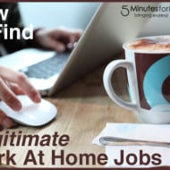 How to Find Legitimate #WorkAtHome Jobs