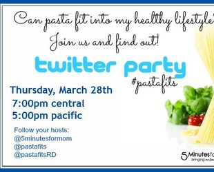 Join us For Our Next Twitter Party on March 28th #pastafits