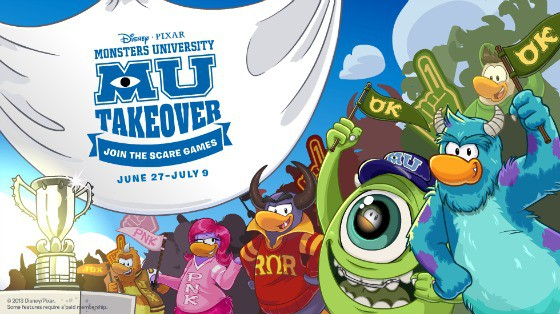 Club Penguin Monsters University Takeover