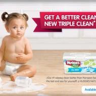 Gentle Cleansing with HUGGIES Triple Clean Layers Wipes