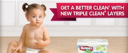 Thumbnail image for Gentle Cleansing with HUGGIES Triple Clean Layers Wipes