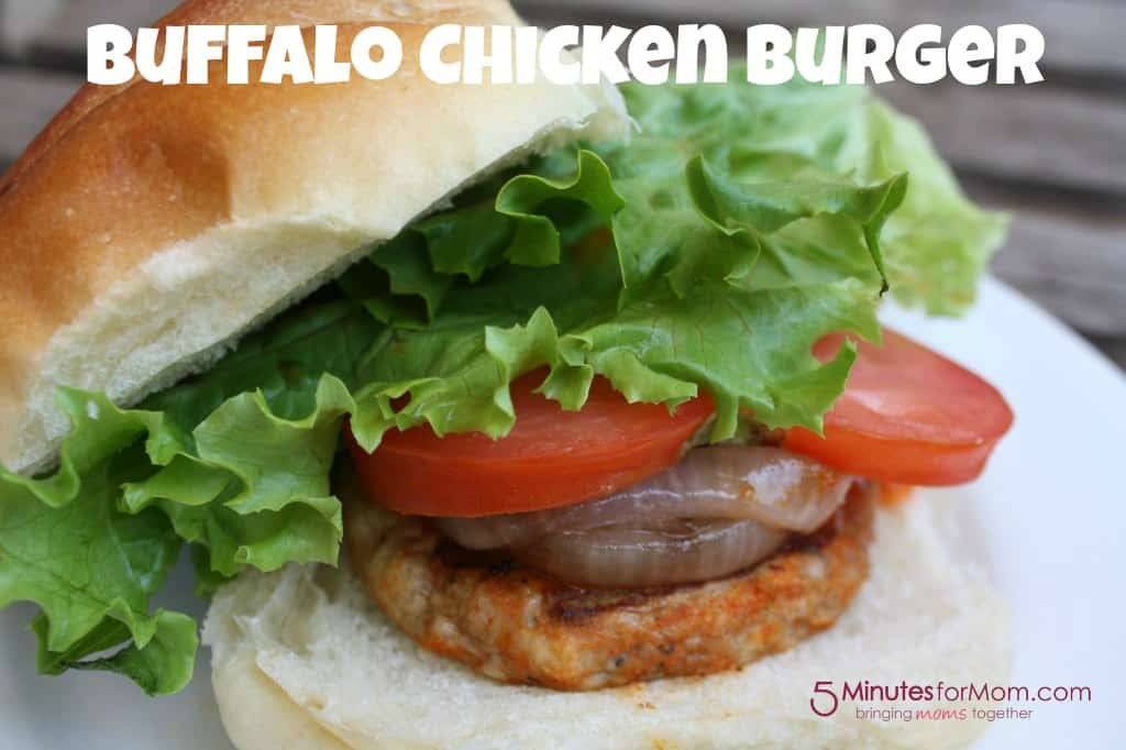 Buffalo Chicken Burgers - 5 Minutes for Mom
