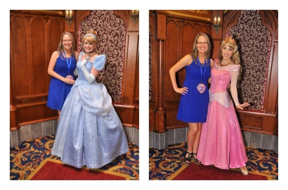 Meeting the princesses at Fantasy Faire