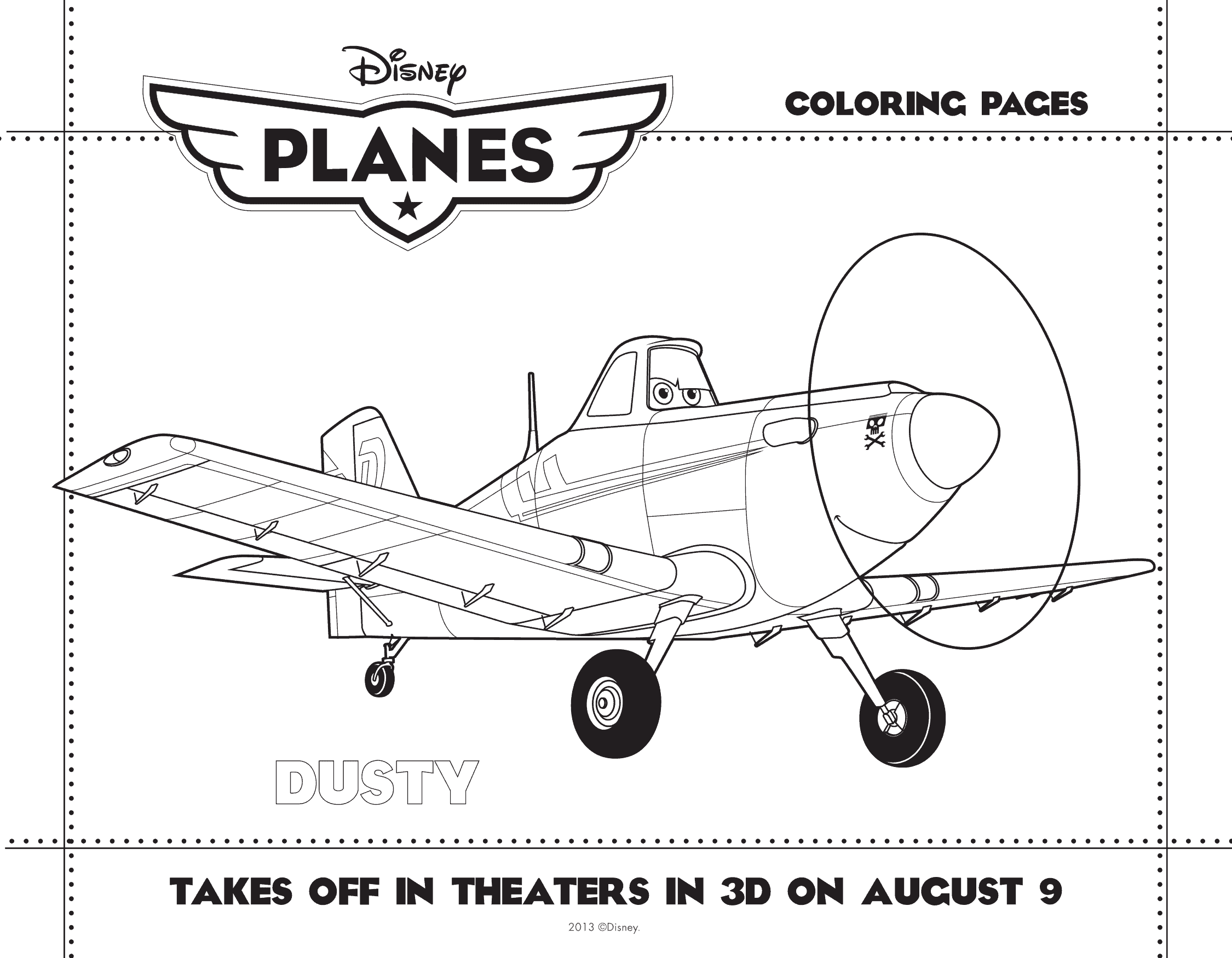 PLANES coloring sheet 1