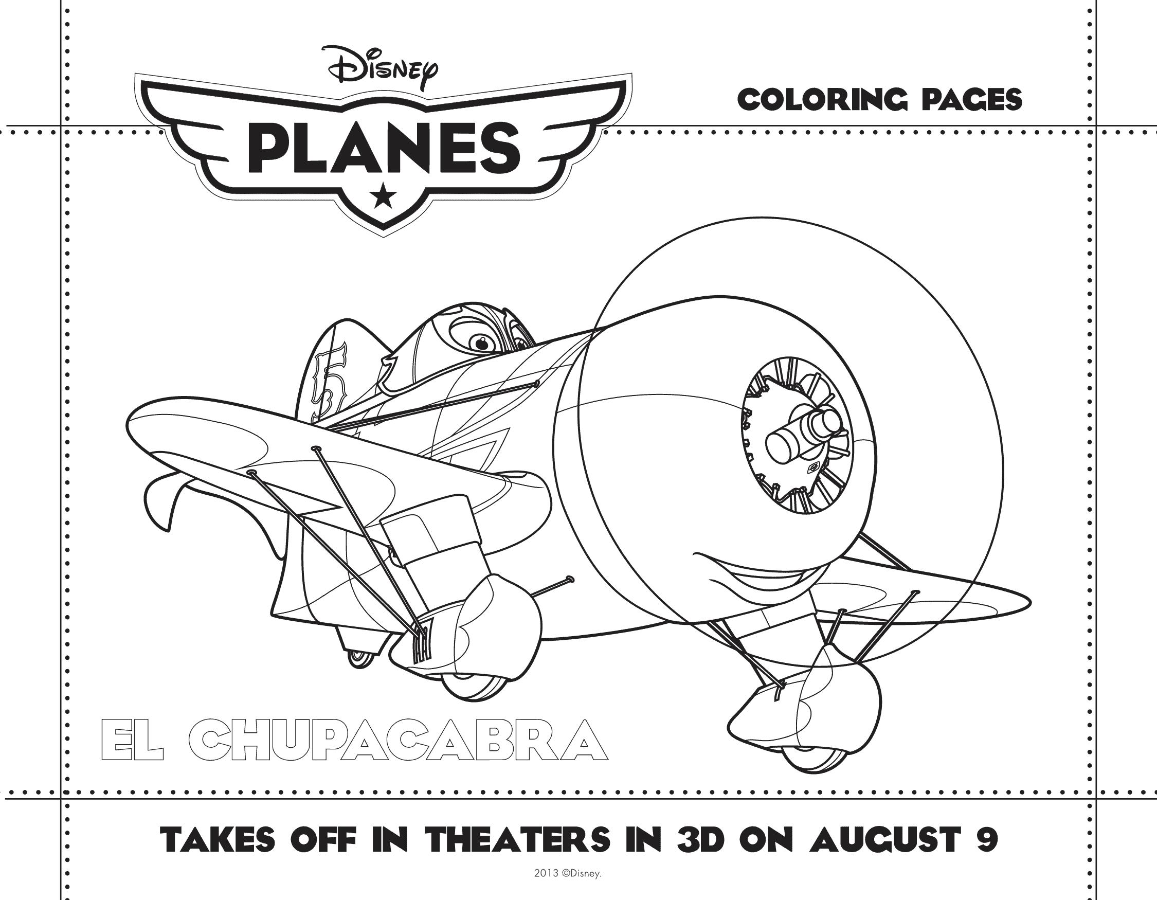 PLANES coloring sheet 2
