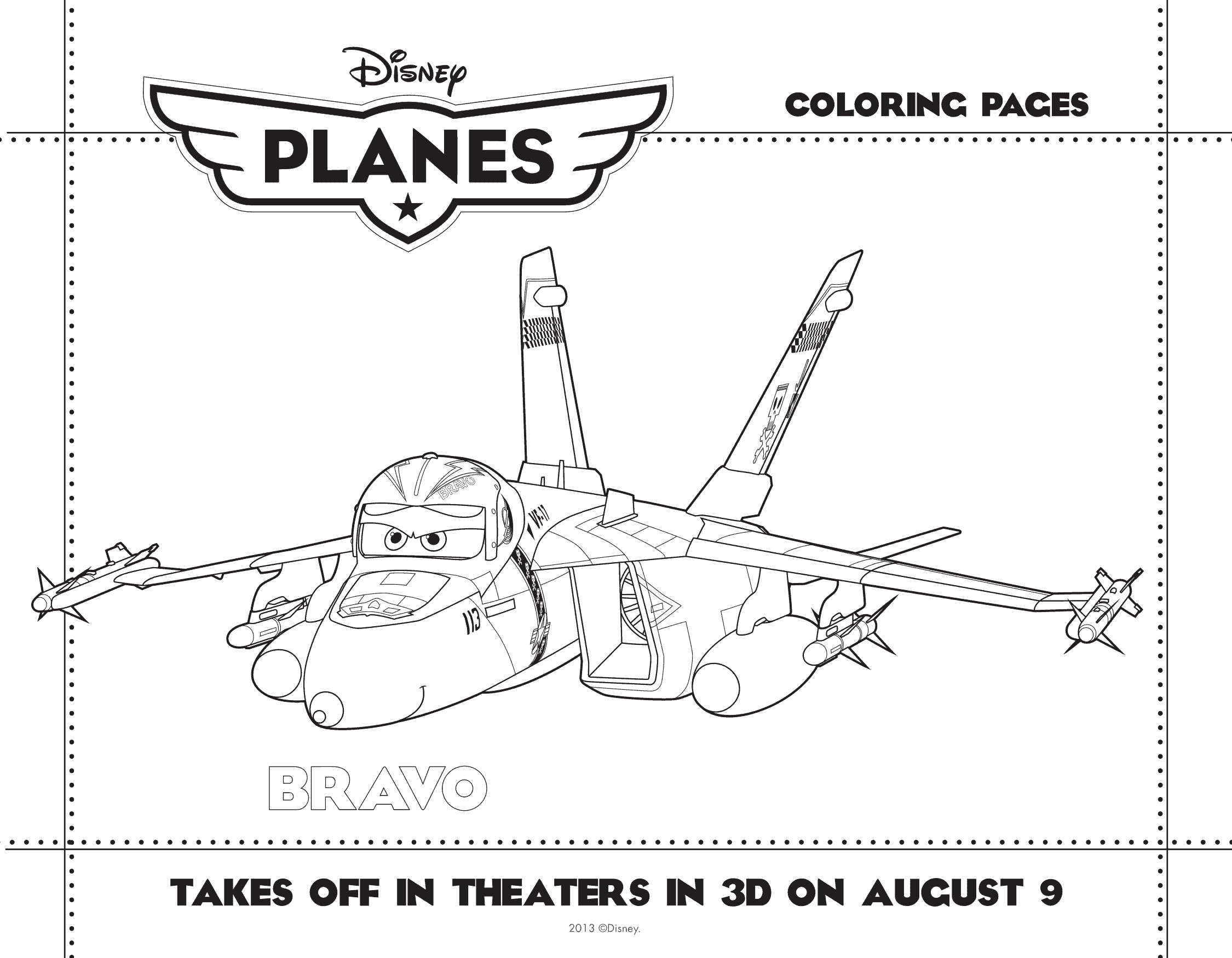 PLANES coloring sheet 3