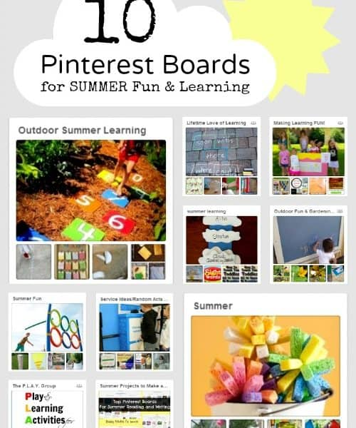 Summer Fun and Learning with Pinterest