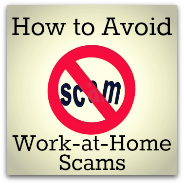 Avoid Work at Home Scams