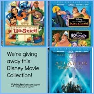 Lilo & Stitch, Atlantis, Emperor's New Groove 2-Movie Collections on Blu-Ray & DVD (Giveaway)