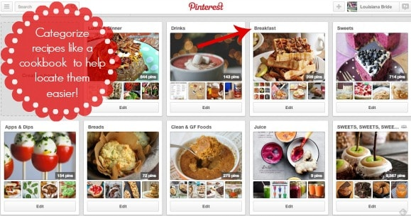 Using Pinterest to Meal Plan