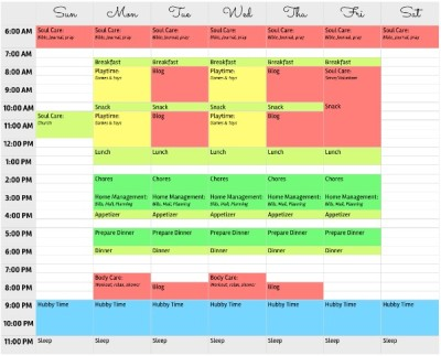 Ferly's organized week