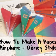 How To Make A Paper Airplane – #DisneyPlanes Printables