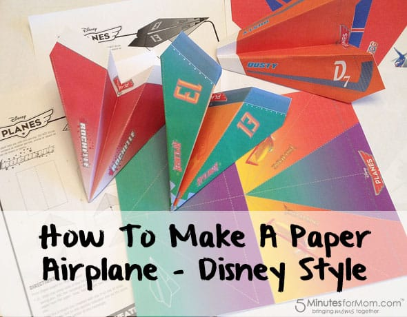 How To Make A Paper Airplane - Disney Planes Style