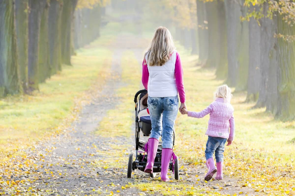 tips for walking for exercise with children